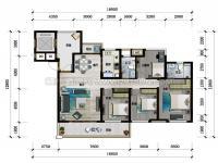 洋房143平户型图